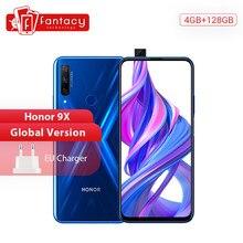 HUAWEI — Smartphone Honor 9X, version mondiale, téléphone portable avec 128 Go de stockage ROM, 4 Go RAM, 6,59 pouces, système Android 9, 3 objectifs AI 48 MP, batterie 4000mAh