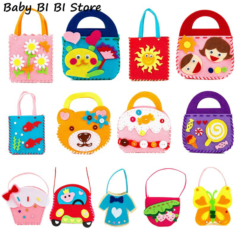 Children Early Childhood Educational Toy Kids Manual Cloth Bag Cute DIY Craft Kit Creative Handmade Materials