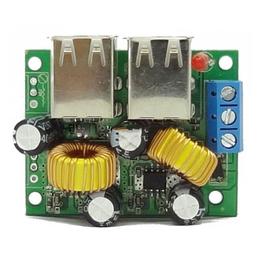 36/24/12 / 9V To 5V 3A Buck 4USB Ultra-multi-USB Interface Car Charging Solar Buck Module