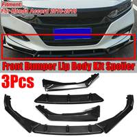 New 3piece Car Front Bumper Splitter Lip Splitters Lip Diffuser Spoiler Protector Guard Body Kit For Honda For Accord 2018 2019