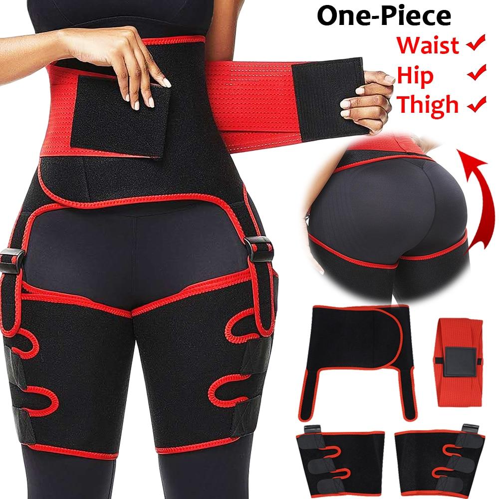 Women High Waist Thigh Trimmer Neoprene Sweat Shapewear Slimming Leg Body Shapers Adjustable Waist Trainer Slimming Belt