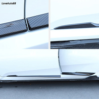 Car styling Auto Side Skirt Car ABS Chrome Side Body Door Decoration Trim Accessories For Honda Civic 10th 2016 2017 2018 2019
