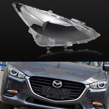 Lente de faro de coche para Mazda 3, Axela 2013, 2014, 2015, 2016, 2017, carcasa de repuesto para coche