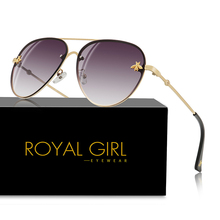 ROYAL GIRL Oval Rimless Sunglasses Women 2020 Brand Designer