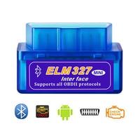 Carro mini bluetooth scanner automático mini elm327 bluetooth obd2 carro detector ferramenta de diagnóstico|Verificadores elétricos e cabos de teste| |  -