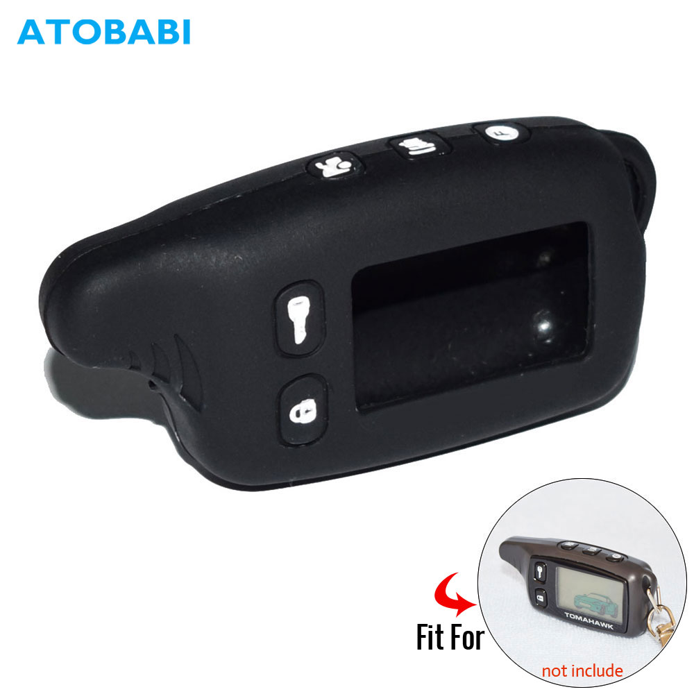 TW9010 Silicone Key Case For Tomahawk TW 9030 9010 9020 Two Way Car Alarm System LCD Remote Control Keychain Transmitter Cover