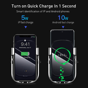 Image 3 - Baseus Wireless Car Charger For iPhone 11 Xs Max Xr 8 Plus 10W Fast Wireless Charger Holder Car Phone Charger For Huawei P30 Pro