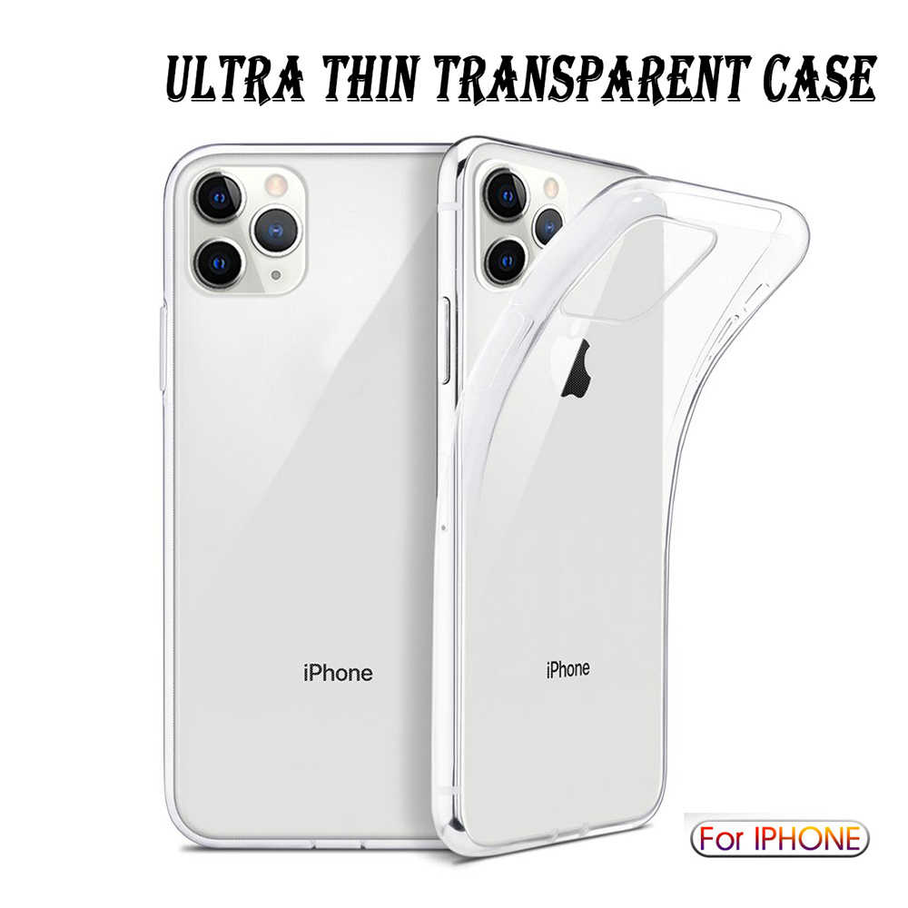 Cao Cấp Chống Sốc Silicone Trong Suốt Cho iPhone 11 Pro Max XR X XS Mềm Điện Thoại Dùng Cho Iphone 6 7 8 Plus 11 Nắp Lưng
