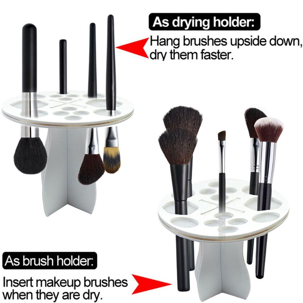 rack de cosméticos maquiagem escova de secagem