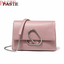 Free Shipping, PASTE Shoulder Bag 100% Soft Genuine Leather OL Style Women's Han