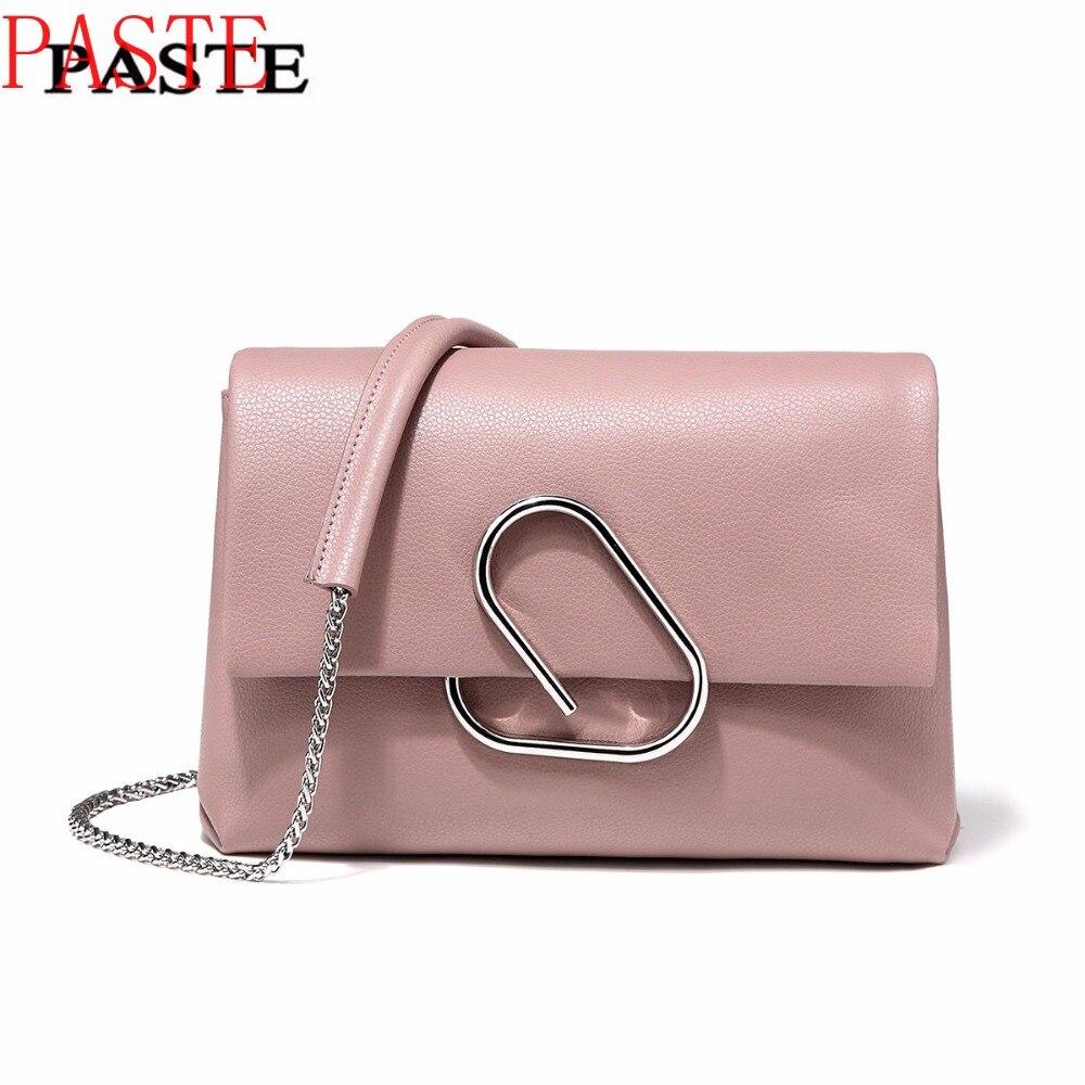 Livraison gratuite, pâte sac à bandoulière 100% doux en cuir véritable OL Style femmes sacs à main dames Bolso sacs à bandoulière petit sac