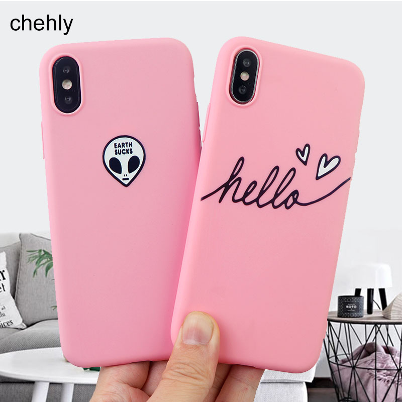 Fashion Alien Phone Case for iPhone X XR XS Max 8 7 6s Plus 11 Pro MAX Cases Solf Silicone Fitted Cell Phone Accessories Covers in Fitted Cases from Cellphones Telecommunications