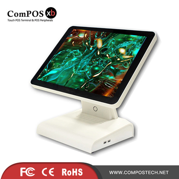 Good looking look POS system 15 inch POS terminal capacitive touch screen POS all in one