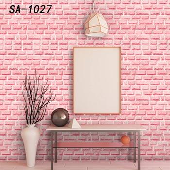 Self-adhesive pink wallpaper Wall brick wallpaper Bedroom wallpaper kid's room wallpaper Warm wallpaper Flower pattern wallpaper wallpaper wallpaper city guide salzburg