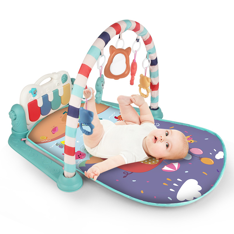 Educational Baby Gym Puzzles Mat For Newborns 0 12 Months Music Play Mat Rack Piano Toys Infant Fitness Carpet Gift For Kids Boy
