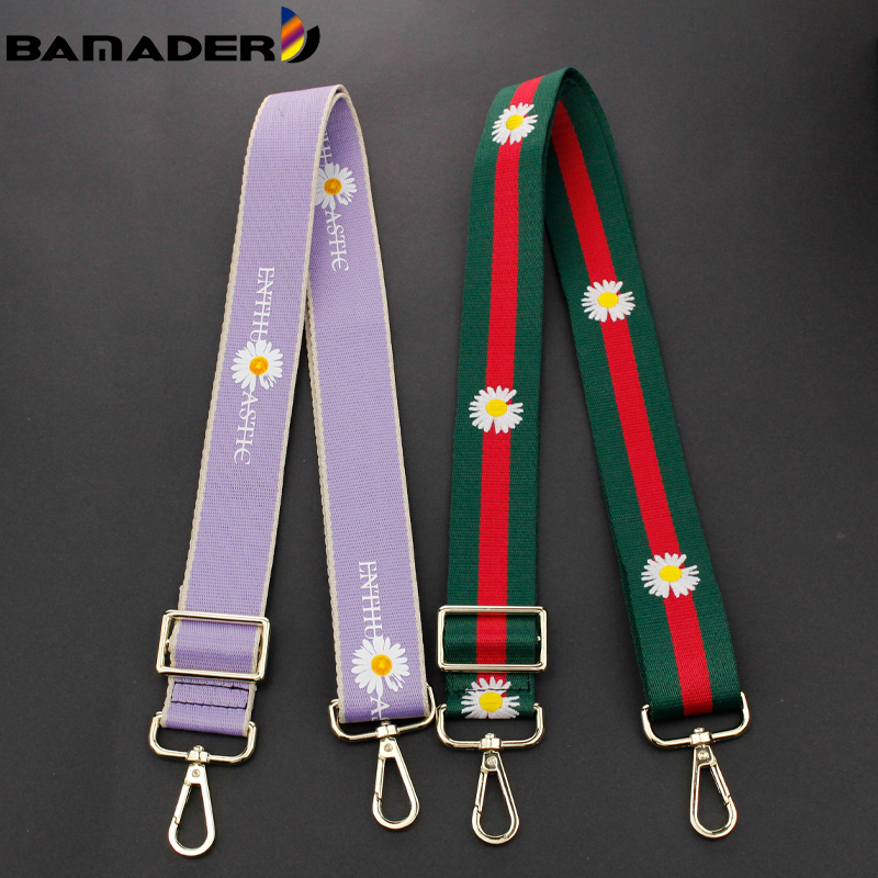 Rainbow Adjustable O bag Straps BAMADER Daisy Shoulder Bag Belts Strap Replacement Nylon Shoulder Strap for Handbag Accessories