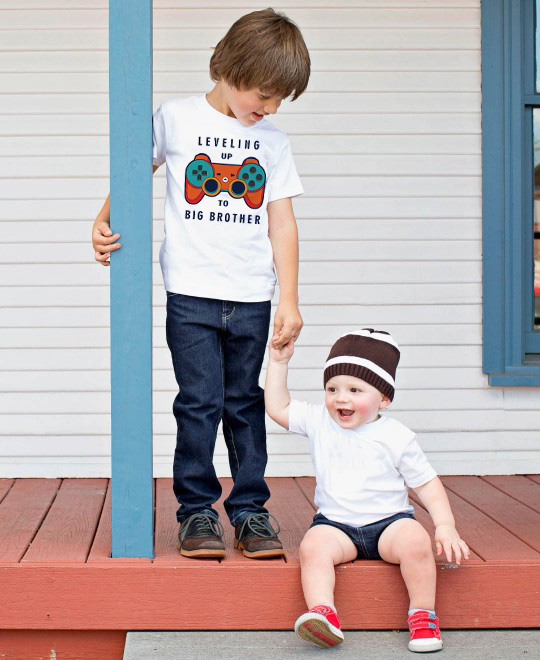 Big Brother O-Neck Short Shirt Leveling Up To Big Bro Toddler And Youth Crewneck Tee Boys Anouncement Fashion Tops Tee Shirts