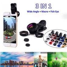 Universal Handy Objektiv Fisch Auge 3 In 1 Weitwinkel Makro Fisheye Linse Für iPhone Huawei Samsung Xiaomi Kamera linsen Clip