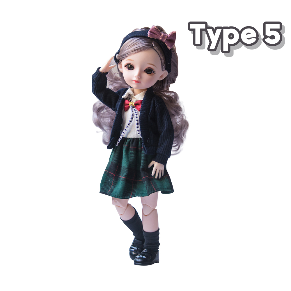 New 1/6 12 Inch 31cm Bjd Doll 23 Joints Long Wig Plastic Toys Musical Doll Girls Children's Favorite Fashion Birthday Presents 11