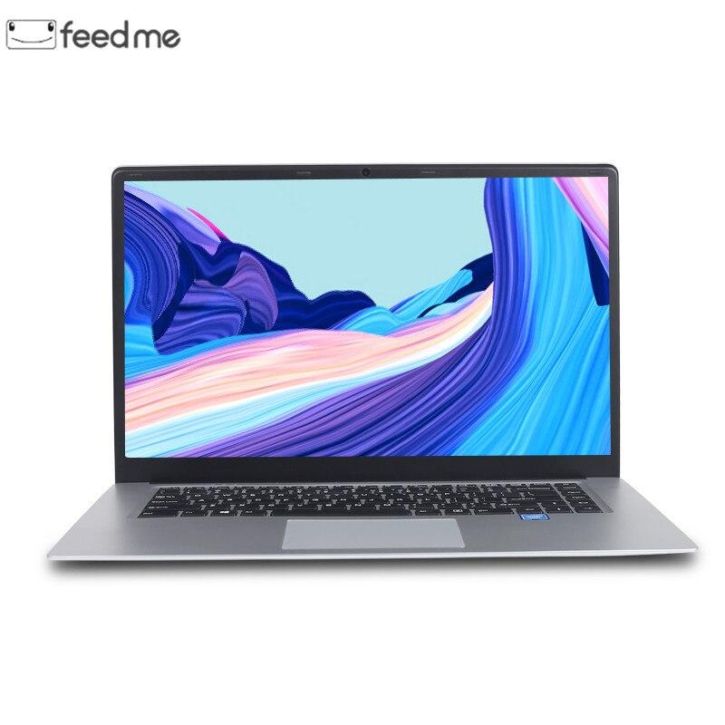 Feed me Notebook Computer 15,6 zoll 8GB RAM 256 GB/512 GB SSD intel J3455 Quad Core Laptops mit FHD Display Ultrabook WiFi