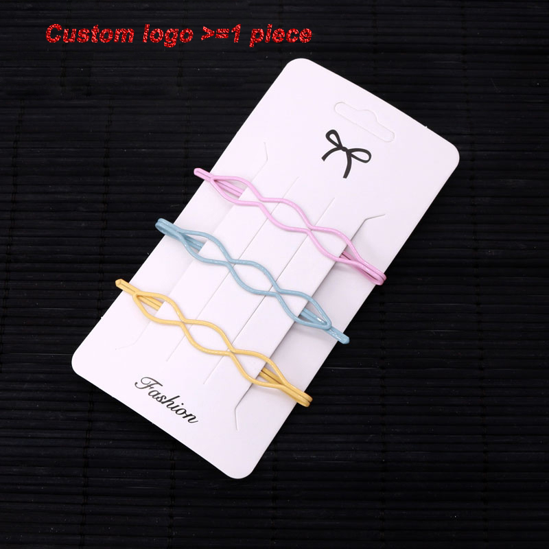 50pcs Paper Hair Clip Cards 6.5*12.5cm Handmade Hairpin Package Sale Display Cards Jewelry Hair Accessory Packaging Cards