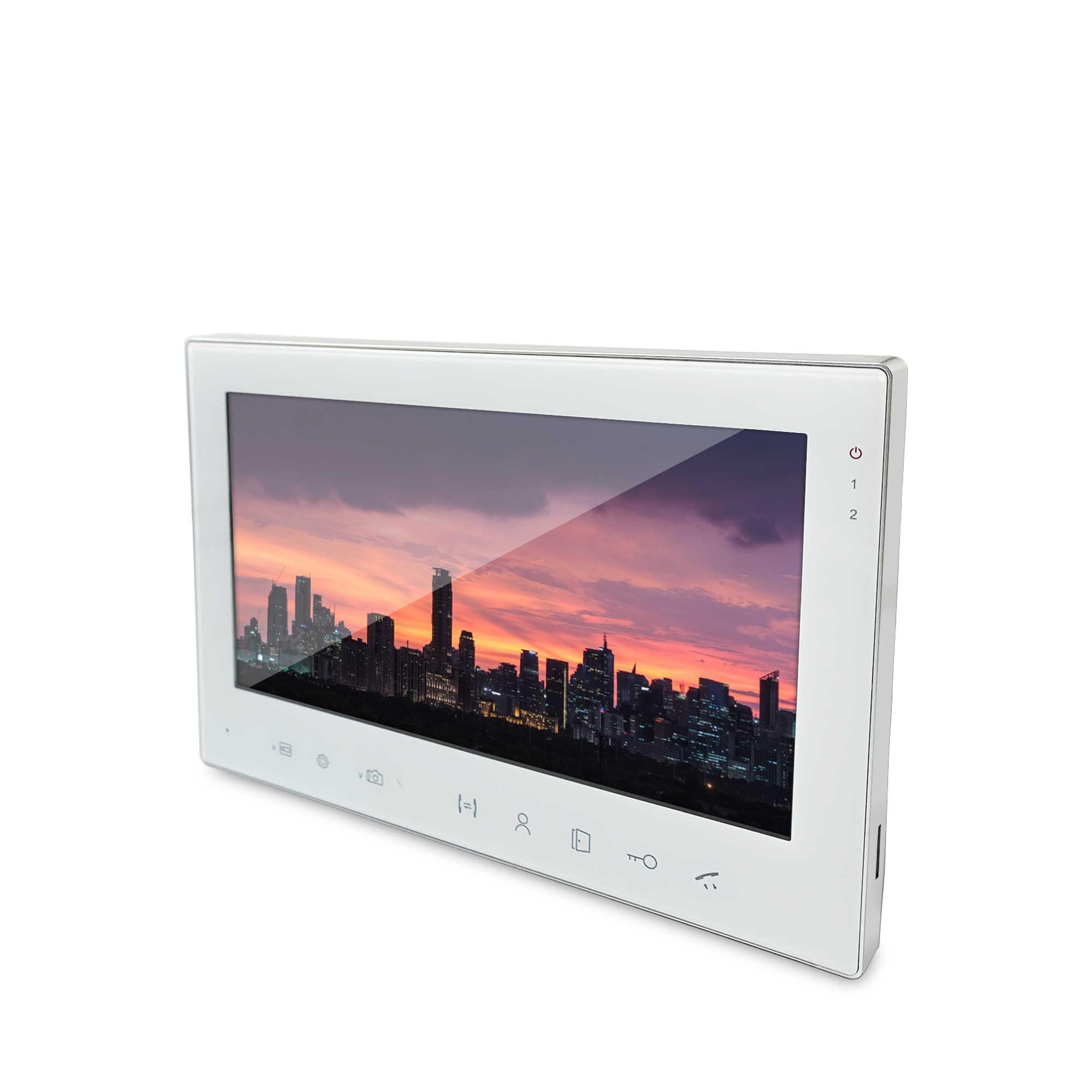 Dragonsview 7 بوصة تعمل باللمس زر فيديو باب الهاتف الجرس كاميرا نظام اتصال داخلي السلكية 1000tvl سجل بطاقة SD إنذار الحركة