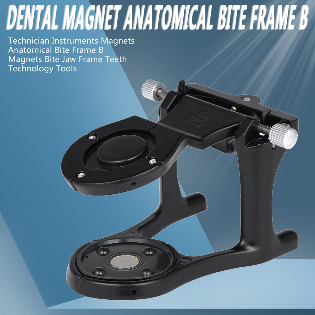 Adjustable Denture Magnetic Articulator Small Articulator Dental Lab Equipment Dental Magnet Anatomical Articulator B Frame