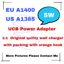 100pcs/lot Original 1:1 Quality A1400 A1385 US/EU Plug USB Wall Charger AC Power Adapter for phone 12 11 X 8 7 Plug with box