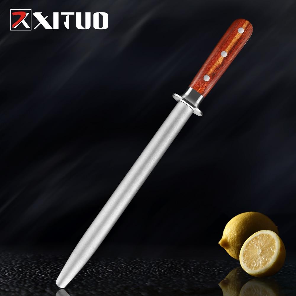 XITUO Professional Alloy Steel Round Shank Sharpening Rod Kitchen Knife Sharpener Knife Shears Scissors Sharpening Stone System|Sharpeners|   - AliExpress