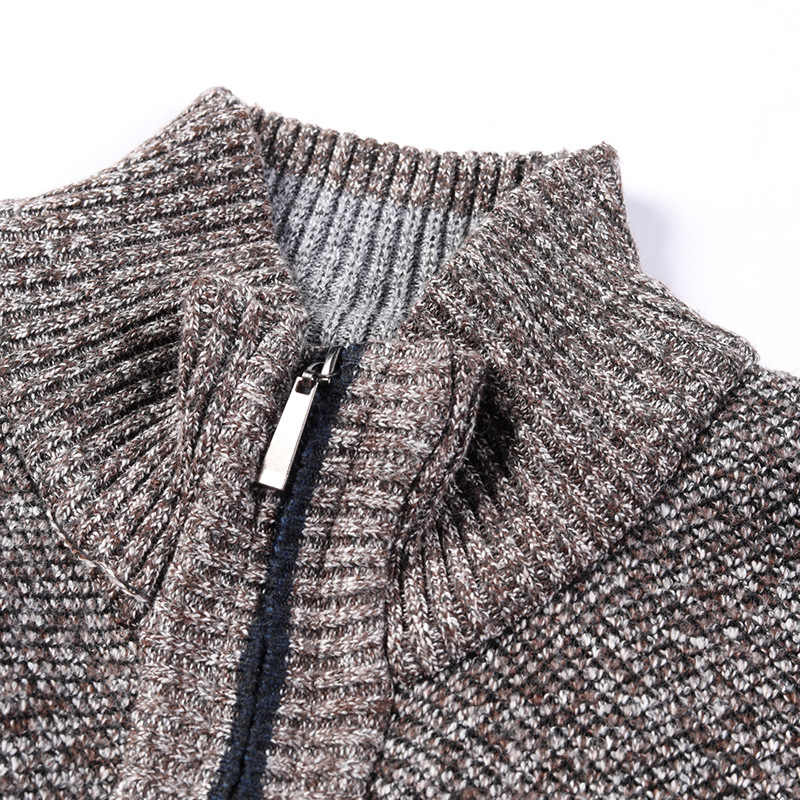 Winter Herren Gestrickte Sweatercoat Muster Wolle Strickjacke Männlichen Casual Samt Verdicken Warme Fleece Pullover Für Mann Hombre