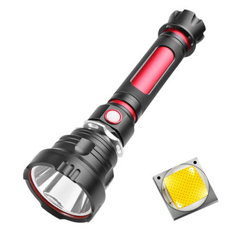 CREE T40 Super Bright LED Flashlight with Smart Chip Waterproof with Large Capacity 26650 Battery for Outdoor Cycling Camping new arrivals multifunction waterproof adjustable cree led flashlight telescope for hiking camping climbing with 16340 battery