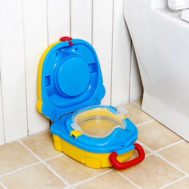 Cute Large Capacity With Handle Urinal Kids Travel Potty Car Portable Outdoor PP Toilet Seat Toddler Training 3