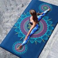 66 CENTIMETRI/80 CENTIMETRI Naturale TPE antiscivolo yoga Stuoie e tappetini Coperta di Yoga Per Il Fitness Pieghevole Zerbino Ad Alta Temperatura della Pelle Scamosciata di Viaggio stampa