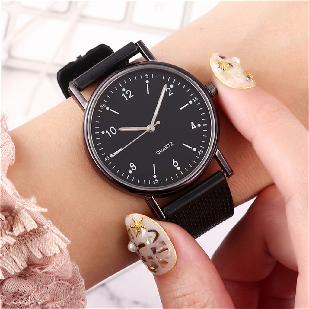 Relogio Feminino Luminous Watches Ladies High-end Quartz Watch Stainless Steel Dial Silicone Leisure Wristwatches Women Gift