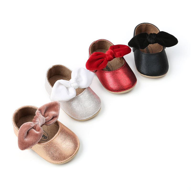 Pudcoco 0-18M PU Leather Baby Girl Shoes Moccasins Moccs Shoes Bow Fringe Soft Soled Non-slip Footwear Crib Shoes