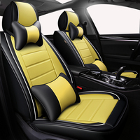 Deluxe Universal auto Leather Car seat cover For Skoda Rapid Fabia Superb Octavia Yeti automobiles car accessories styling seat