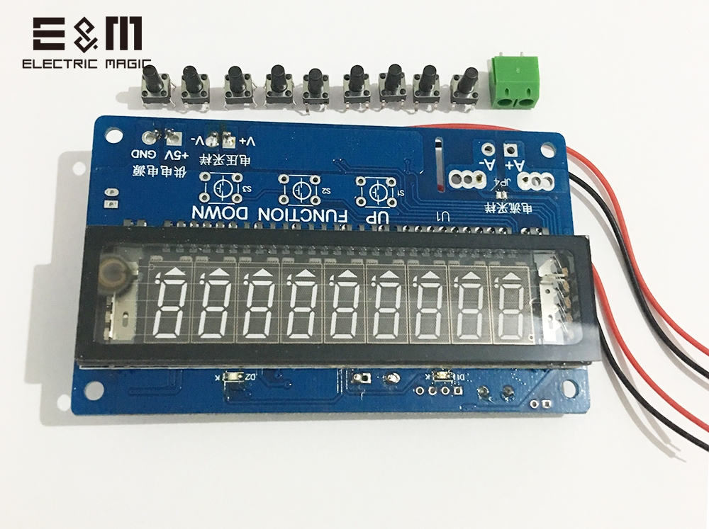 E&M 0-30V 0-5A TTL USB VFD Display Screen Panel SCM Vacuum Fluorescent Displayer Graphical For Voltage Ammeter