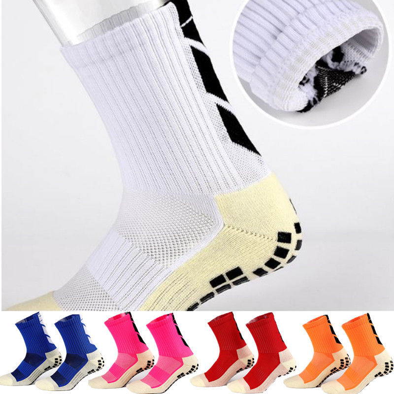 Новые противоскользящие футбольные носки, мужские спортивные носки, хлопковые носки хорошего качества того же типа, что и Trusox, 9 цветов