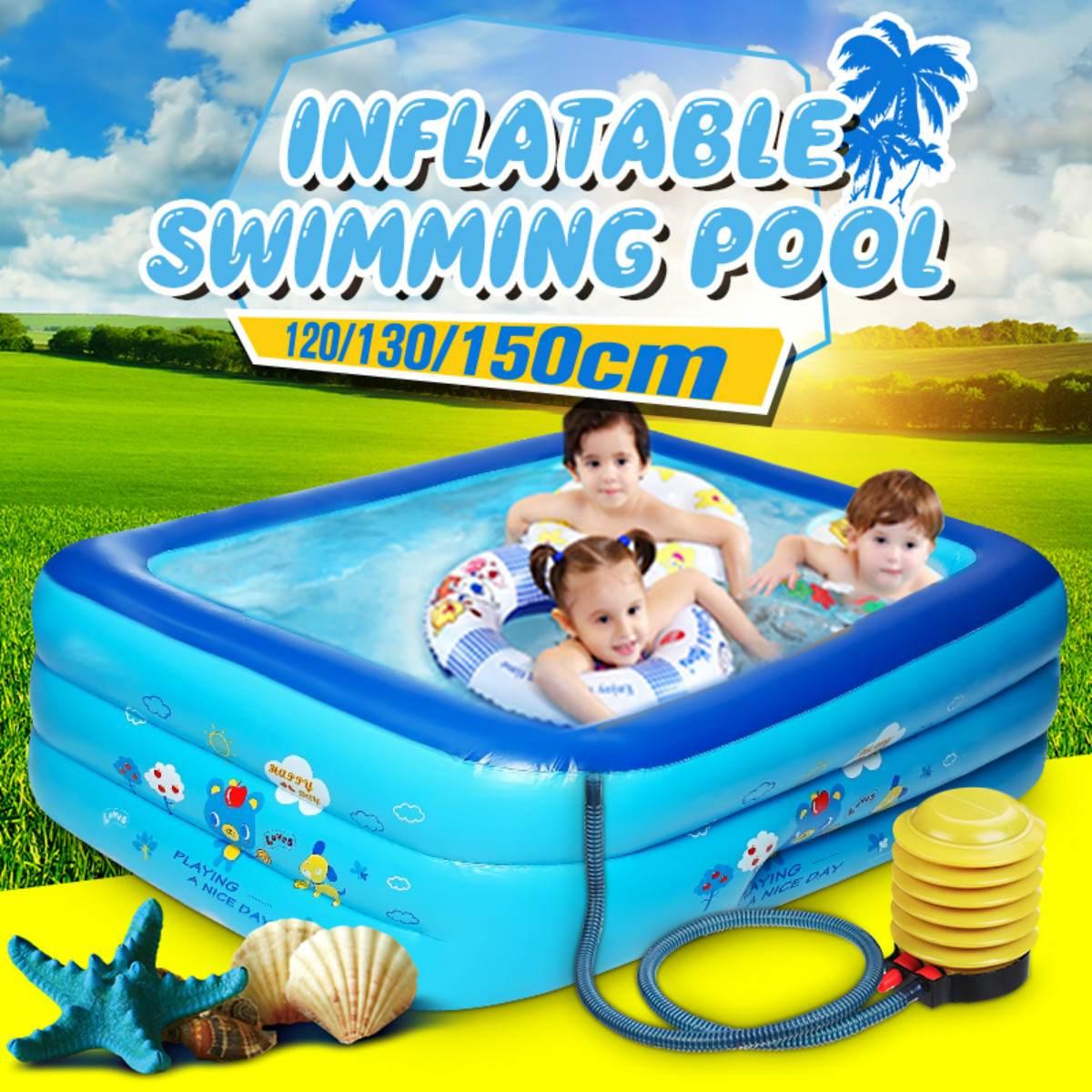 Piscine gonflable pour enfants   1.2/1.3/1.5/1.8M, baignoire de plage Portable pour l'extérieur, jardin arrière-jardin familial