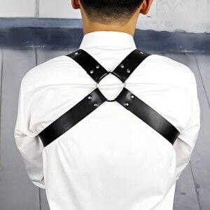 Image 4 - Leather Harness Belt Man Bdsm Bondage Pastel Goth Fantazi Seks gg Belt Gothic Punk Cinturon Mujer Wedding Garter Suspenders