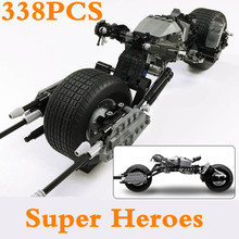 купить Sermoido 7115 DC Super Heroes The Dark Knight Batman Batcycle Batmobile Bricks Batpod Building Blocks Toys For Children по цене 1240.76 рублей