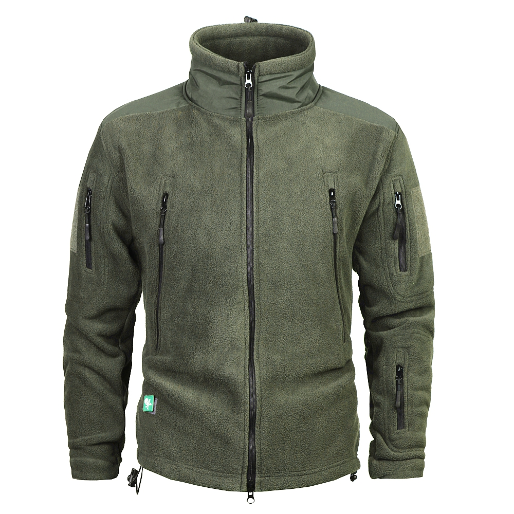 Mens Fleece Jacket Outdoor Riding Climbing Hiking Hunting Camping Outerwear Thermal Military Tactical Windproof Coat S-2XL