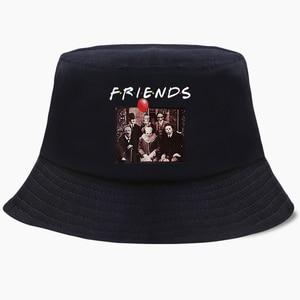 Sombreros de cubo Bob Joker Clown Friends, estampado divertido de verano para hombres y mujeres, sombrero de pescador, gorras coreanas de algodón, gorra de playa de Hip Hop