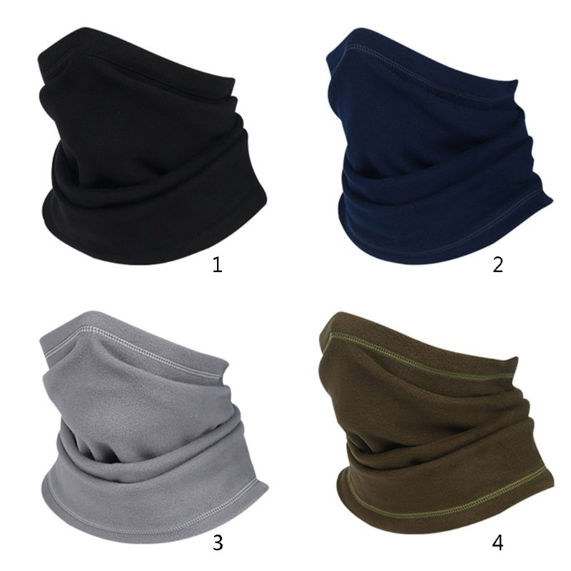 Unisex Multifunction Thicken Polar Fleece Long Neck Warmer Tube Scarf Men Women Casual Outdoor Face Mask Windproof Scarf