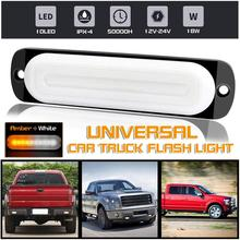 Car Signal Lamp 12V- 24V 10 LED Amber White Bar Car Truck Strobe Flash Emergency Light Lamp Warning Police Lamp Flashing Lights цена 2017