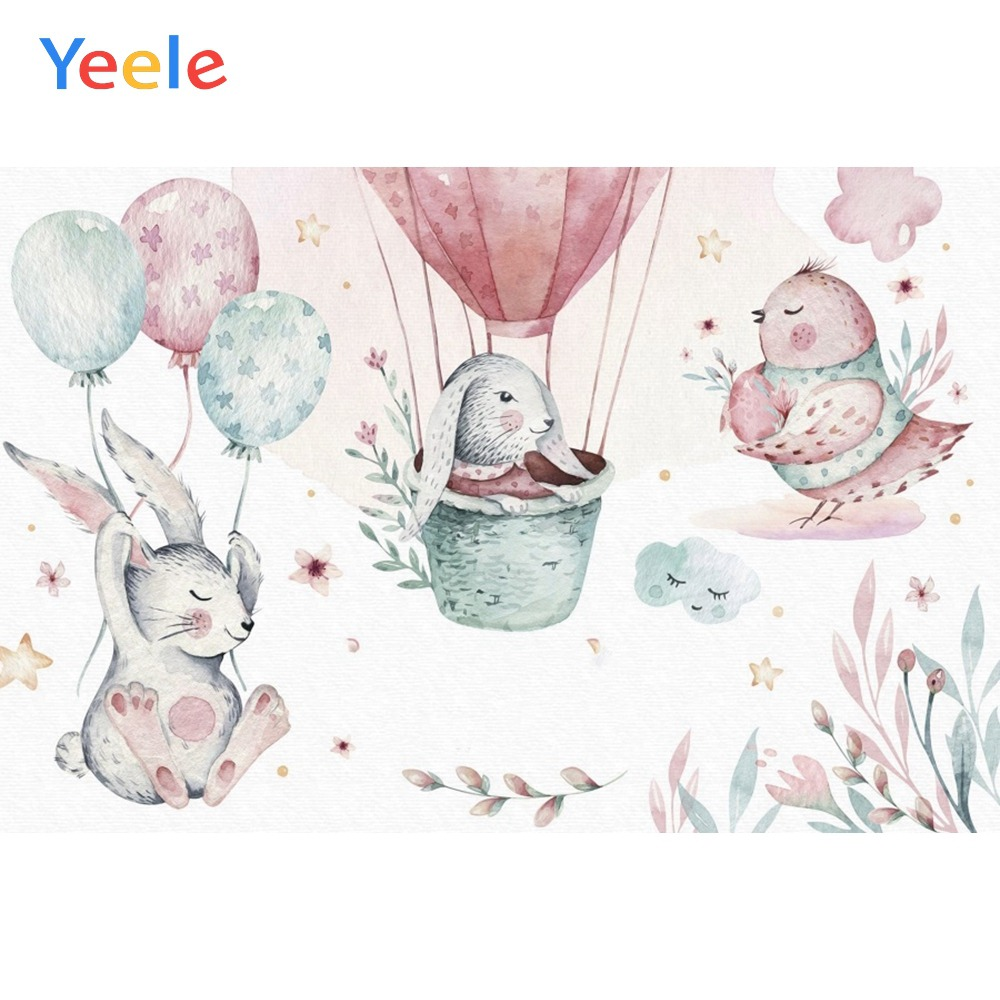 Yeele Baby Shower Backdrop Hot Air Balloon House Photography Backdrops Personalized Photographic Backgrounds For Photo Studio in Background from Consumer Electronics