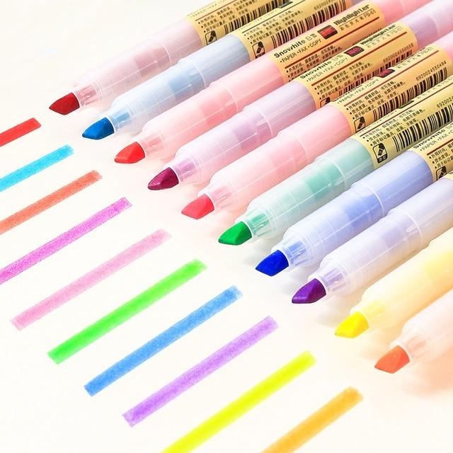 40 teile/los Matte Stil Farbe Highlighter Marker Stifte Fluoreszierende Hervorhebung Zeichnung Spot Liner Großhandel Büro Schule F129