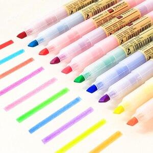 Image 1 - 40 قطعة/الوحدة ماتي نمط اللون قلم تحديد أقلام الفلورسنت تسليط الضوء على رسم بقعة بطانة بالجملة مكتب المدرسة F129