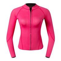Premium 2mm Neoprene Women Wetsuit Front Zipper For Scuba Diving Swimming Top Rose Red for Diving
