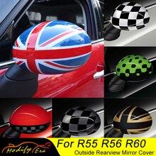 2 stücke Tür Rückspiegel Abdeckungen Aufkleber Auto styling Für Mini Cooper S Clubman Countryman Paceman R55 R56 r57 R58 R59 R60 R61